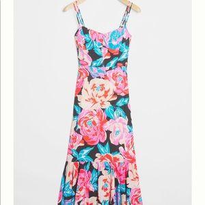 Anthropologie Tina Flounce Midi Dress Size 4